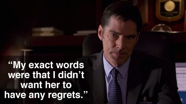 Aaron Hotchner and Beth called it quits.