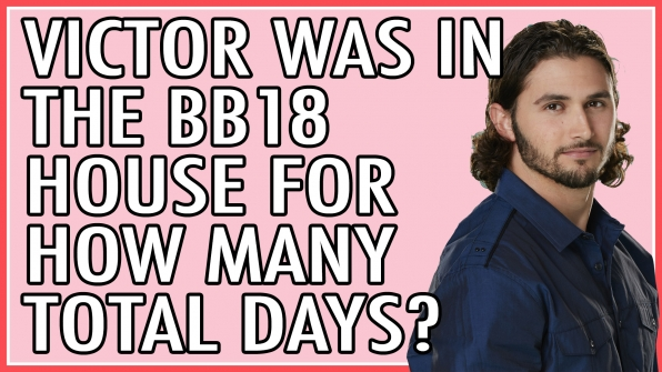 Victor was in the BB18 house for how many total days?