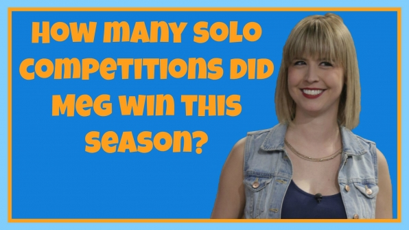 How many solo competitions did Meg win this season?