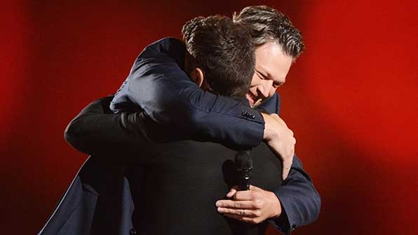 7. When he gave his co-host the biggest hug ever at the end of the night.