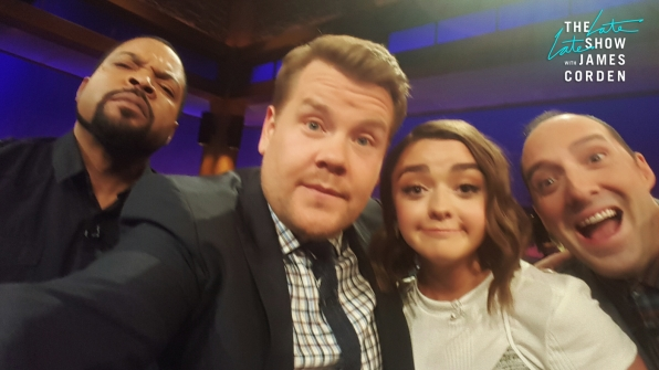 Ice Cube, Maisie Williams and Tony Hale