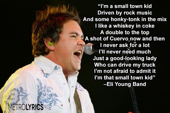 Small Town Kid Lyrics Youtube