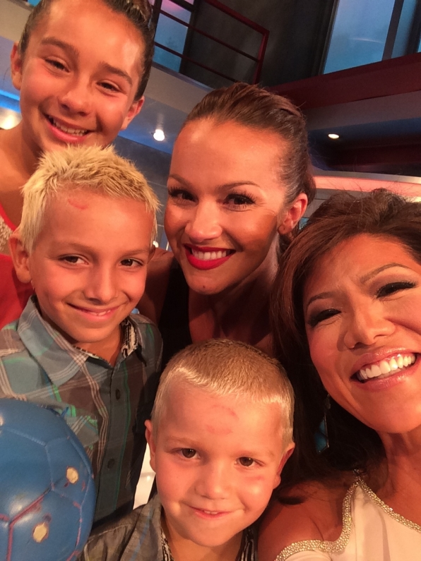 47. Julie Chen, Evicted Houseguest Brittany and her children