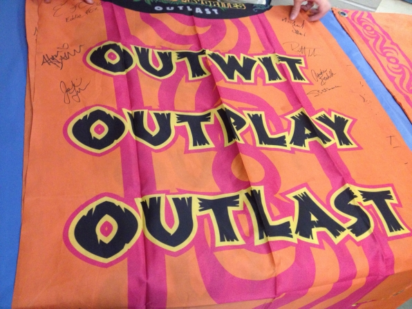 Signed Survivor Banner for Charity