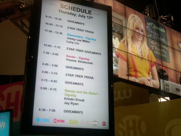 Thursday's CBS Booth Schedule