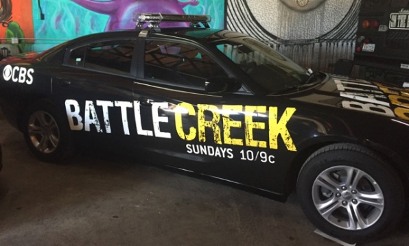 A Battle Creek cop car coming at you from South By Southwest Conference (SXSW)
