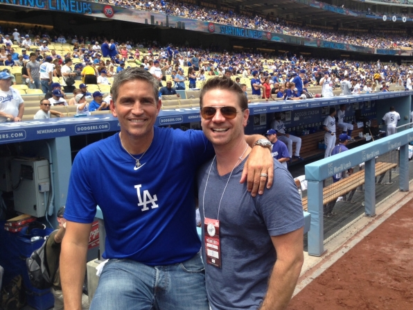 Jim Caviezel and EP Greg Plageman At Dodger Stadium