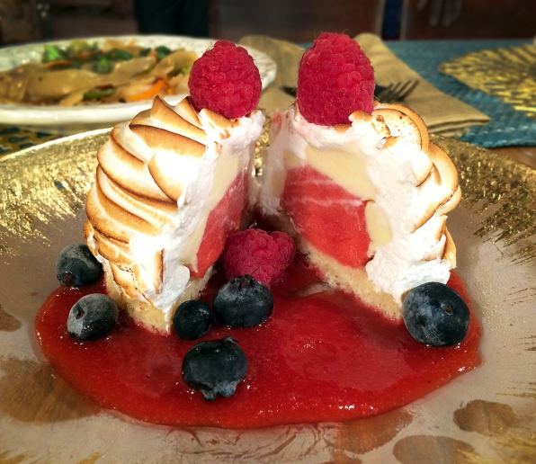 Laura's Grilled Pound Cake with mixed berries