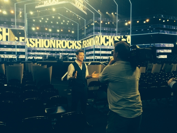 Ryan Seacrest rehearses for Fashion Rocks