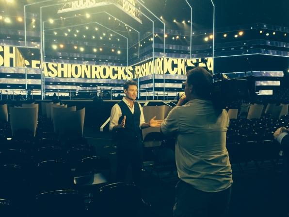 Ryan Seacrest rehearses for Fashion Rocks