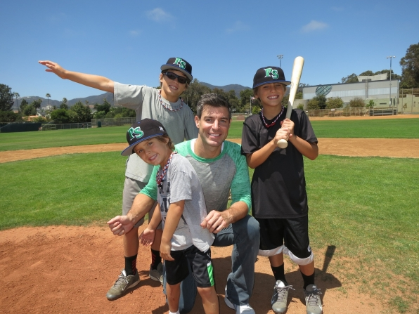 Jeff Schroeder with Josh Morrow's kids