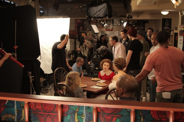 Filming A Spot For The Tony Awards