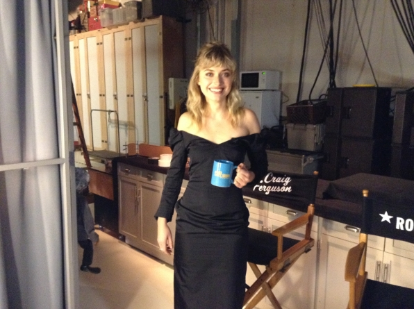 Imogen Poots - Behind the Scenes at The Late Late Show