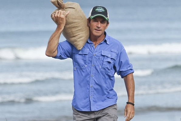 Survivor Instagram - Jeff Probst visits Hunahpu
