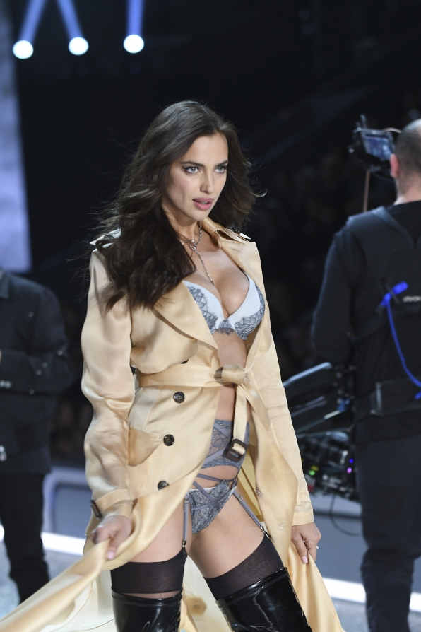 Looks like Irina Shayk has some serious Victoria's Secret intel.