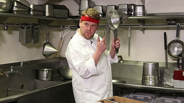 James Corden is one hot dish when he werks it in the kitchen.