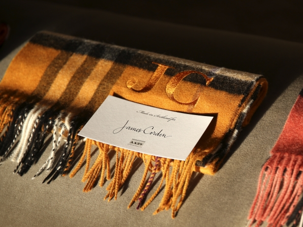 The show's VIPs received personalized Burberry scarves.