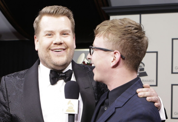 James Corden and Tyler Oakley