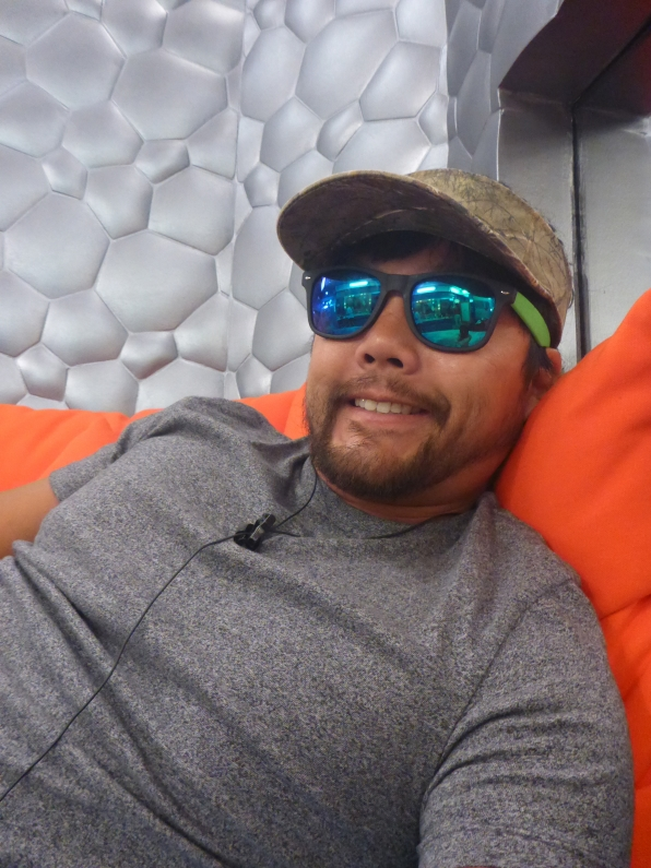 James kicks back as BB17's first HoH.