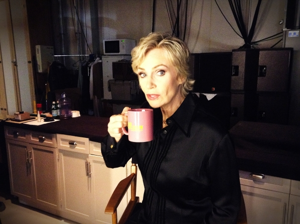 Jane Lynch - Behind the Scenes at The Late Late Show