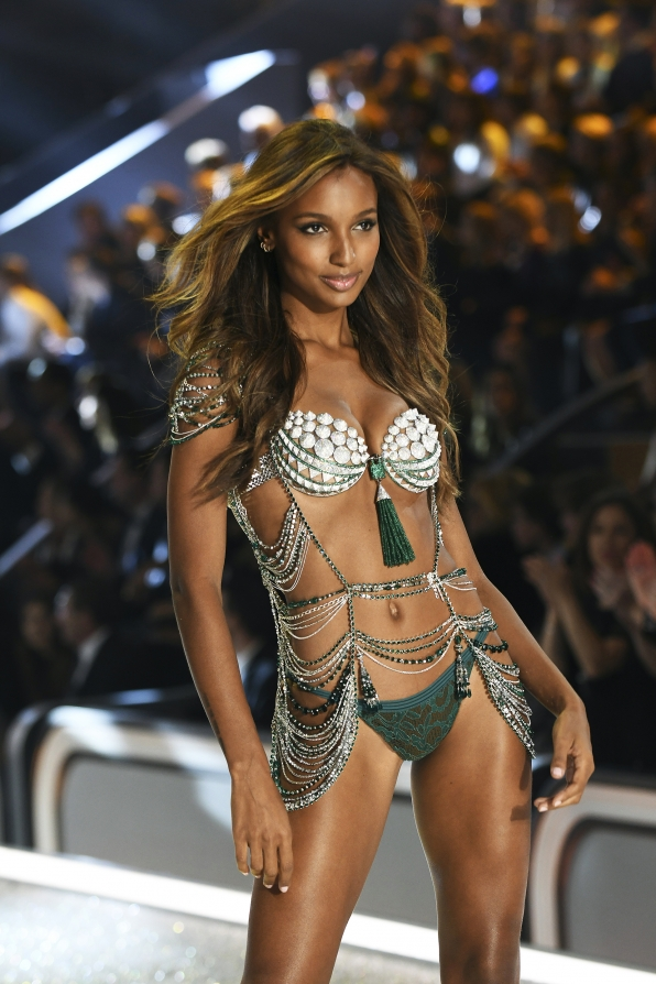 Angel Jasmine Tookes looks like $1 million bucks in this year's Fantasy Bra.