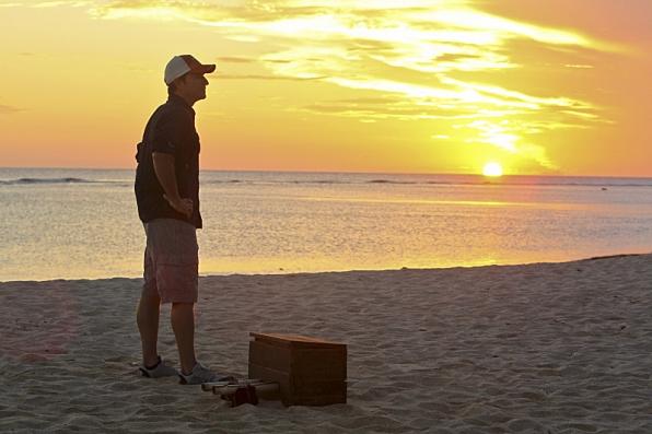 He appreciates a Survivor sunset.