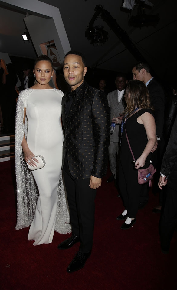 GRAMMYs 2016: Chrissy Teigen and John Legend