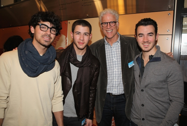 Ted Danson and Jonas Brothers