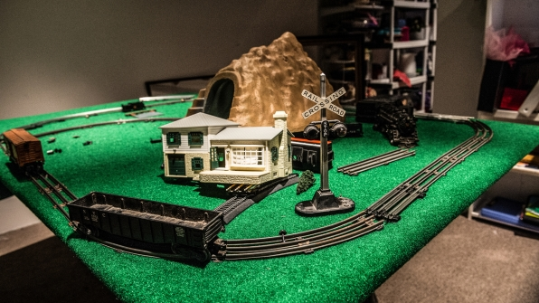 Production worked hard to recreate the Ramsey's train room.