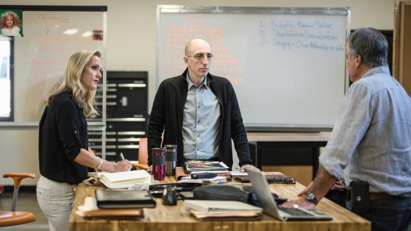 Investigators Laura Richards and Jim Clemente meet with James Kolar, former chief investigator for the District Attorney in Boulder.
