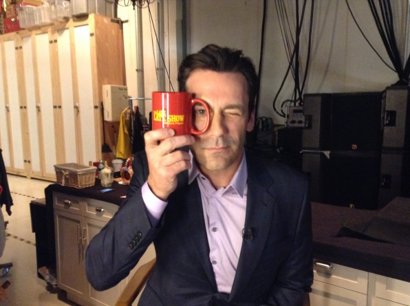 Jon Hamm - Behind the Scenes at The Late Late Show