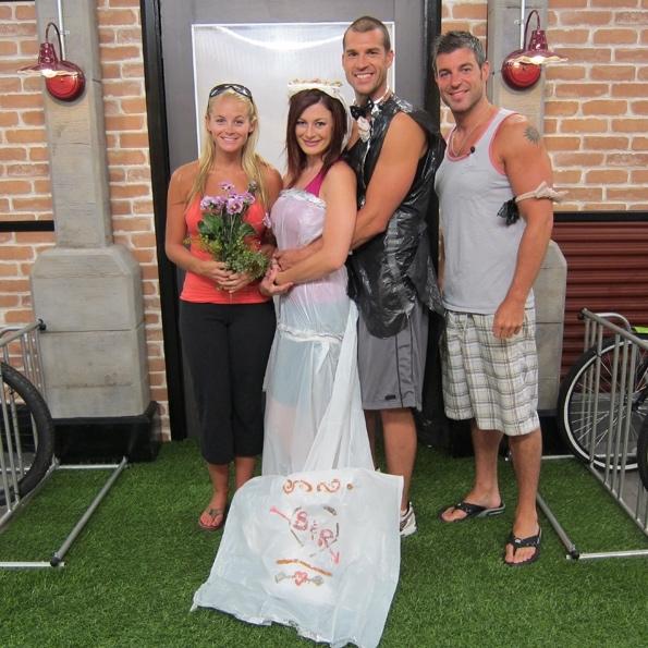 Jordan, Brendon, Rachel and Jeff Pose After the Big Brother Wedding