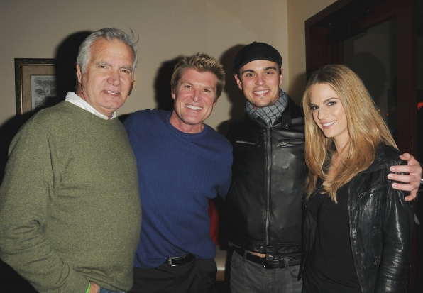 John McCook, Winsor Harmon, Darin Brooks, and Kelly Kruger