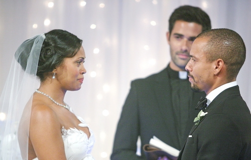 Devon and Hilary exchange wedding vows