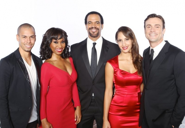 Bryton James. Angell Conwell, Kristoff St. John, Christel Khalil and Daniel Goddard
