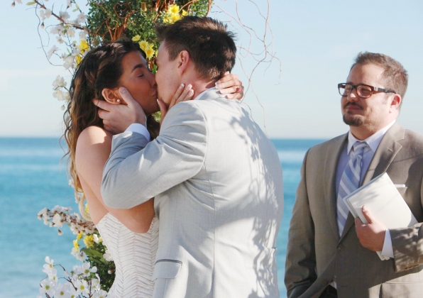 Steffy and Wyatt exchanged vows on the beach.
