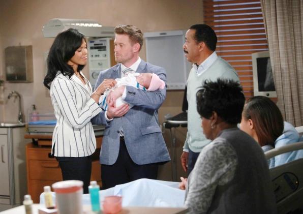 Rick and Maya welcomed their baby girl on B&B.