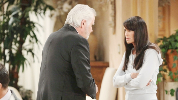Eric and Quinn greatly differ about what to do regarding Sheila's condition, which was brought on by Quinn.