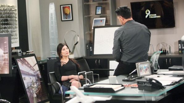 Although she's on board with Bill's plan, Steffy warns him that Liam may be the one to push back.