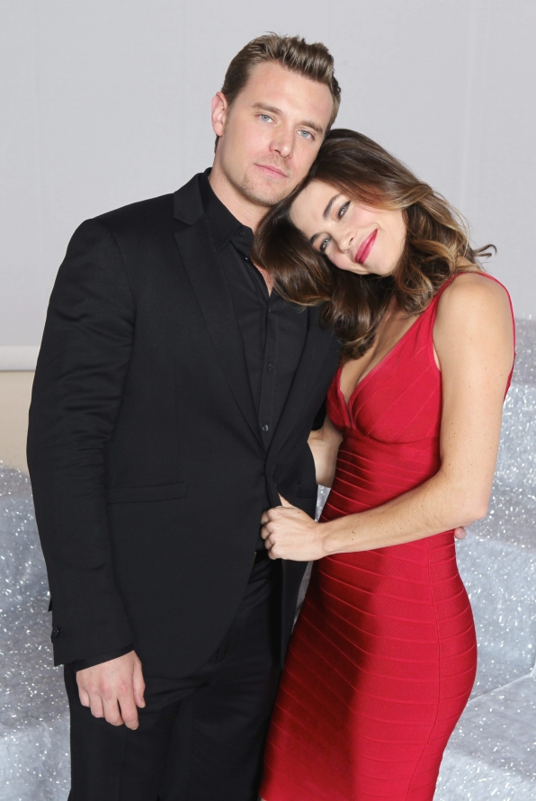 Billy Miller and Amelia Heinle