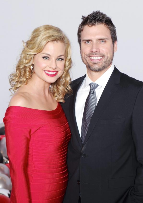 Jessica Collins and Joshua Morrow