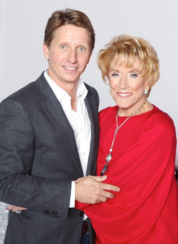 Jeanne Cooper and The Bold and the Beautiful Executive Producer and Head Writer Bradley Bell