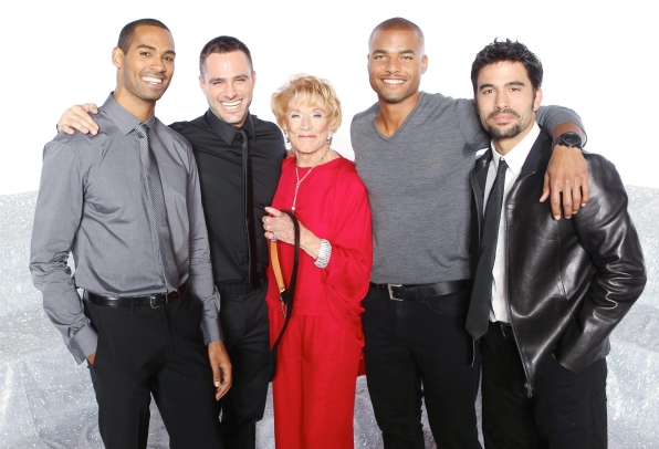 Jeanne Cooper and the Boys