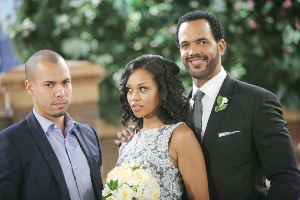Caught in an awkward love triangle on The Young and the Restless