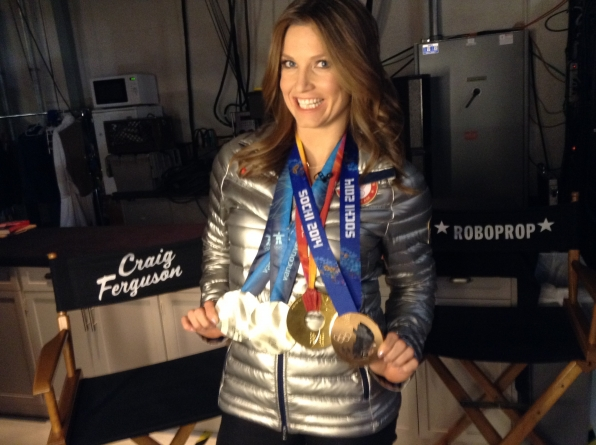 US Olympian Julia Mancuso - Behind the Scenes at The Late Late Show