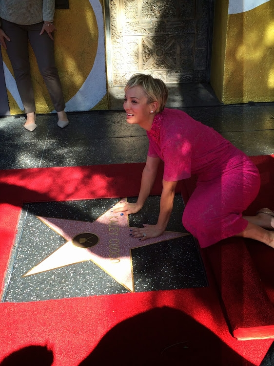 Kaley with her star