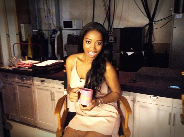 Keke Palmer - Behind the Scenes at The Late Late Show