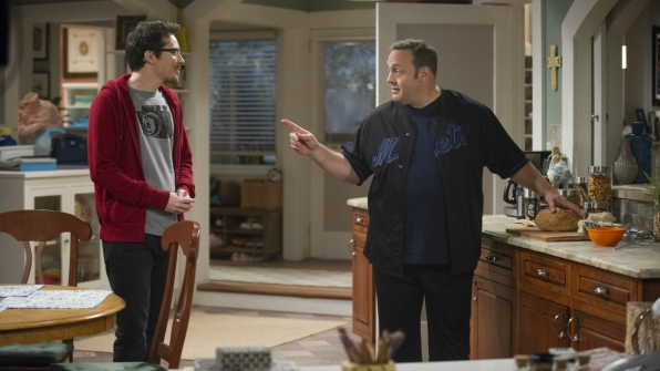Kevin has a chat with Chale in the kitchen.