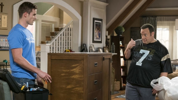 Kevin outsourced his chore duties on Kevin Can Wait.