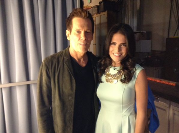 Kevin Bacon and Karla Souza